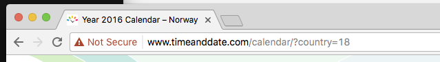 Shows the Chrome Canary address bar, visiting an HTTP site. The bar shows an insecure message, screenshot.