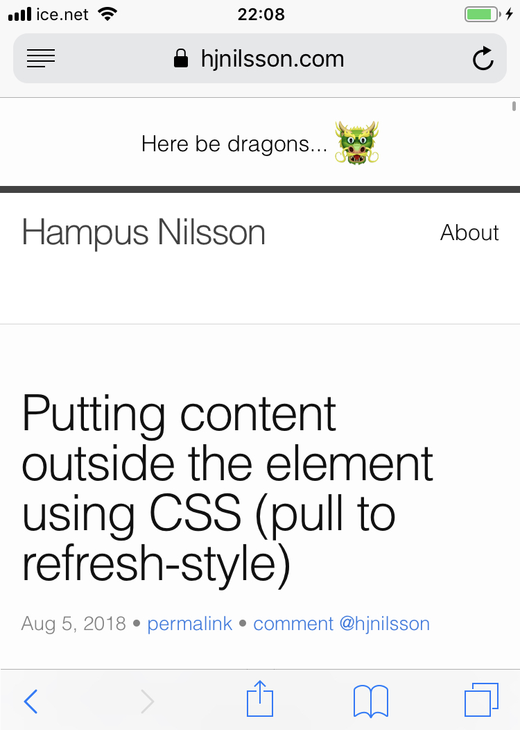 Putting content outside the <body> element using CSS (pull